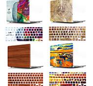 """abordables -MacBook Etuis Apparence Bois / Mot / Phrase / Peinture à l'Huile Plastique pour MacBook Pro 13 pouces / New MacBook Air 13"""" 2018"""
