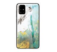abordables -teléfono Funda Para Samsung galaxia Funda Trasera A8 2018 A8+ 2018 A7 Galaxy A9 (2018) A10 A30 A50 A40 A90 A70 Antigolpes Diseños Mármol TPU Vidrio Templado