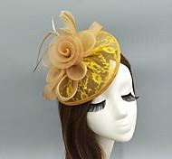 economico -Piume / A rete fascinators / cappelli / Cappelli con Piume / Fantasia floreale 1 pezzo Matrimonio / Occasioni speciali Copricapo