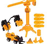 abordables -1:20 ABS Véhicule de Construction Chargeur Sur Pneus Camions Véhicules de Construction Petites Voiture Véhicules à Friction Arrière Chariot Elévateur Garçon Enfant Jouets de voiture