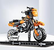 abordables -Blocs de Construction 209 pcs Moto compatible ABS + PC Legoing Simulation Moto Tous Jouet Cadeau / Enfant