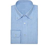 abordables -Chemise boutonnée en oxford bleu pur
