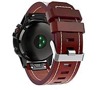 economico -Cinturino intelligente per Garmin 1 pcs Cinturino sportivo Cinturino di pelle Vera pelle Sostituzione Custodia con cinturino a strappo per Fenix 5x Fenix 5x Plus Fenix 3 Zaffiro Fenix 3 Garmin D2