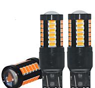 abordables -2 pcs Canbus T20 LED 7440 W21W 7443 W21 / 5W Lumière De Frein De Voiture LED Ampoules Lampe Pour Clignotant Lumière De Frein Lumière Aucune Erreur 12-24 V