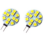 abordables -2pcs 2 W LED à Double Broches 200 lm G4 12 Perles LED SMD 5050 Blanc Chaud Blanc 12 V