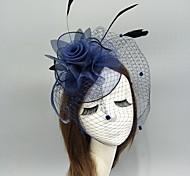 economico -Piume / A rete fascinators / cappelli / Cappelli con Piume / Fantasia floreale / Con ruche 1 pezzo Matrimonio / Occasioni speciali Copricapo