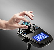 abordables -T10 fm émetteur bluetooth kit mains libres pour voiture mp3 lecteur de musique adaptateur radio avec télécommande pour iphone / samsung lg smartphone