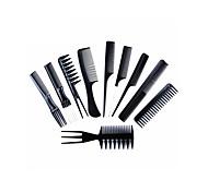 abordables -10pcs peigne à cheveux professionnel set peignes de coiffure antistatiques