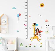 abordables -Enfants hauteur graphique sticker mural décor dessin animé girafe règle de la hauteur stickers muraux décoration de la maison décoration murale art autocollant affiche