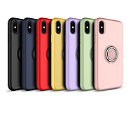 economico -telefono Custodia Per Apple Per retro iPhone XR iPhone XS iPhone XS Max iPhone X iPhone 8 Plus iPhone 8 iPhone 7 Plus iPhone 7 iPhone 6s Plus iPhone 6s Supporto ad anello Effetto ghiaccio Tinta unica