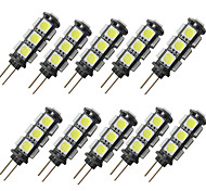 economico -10 pezzi 2 W Luci LED Bi-pin 150 lm G4 13 Perline LED SMD 5050 Bianco caldo Bianco 12 V