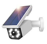 abordables -fausse caméra solaire puissance simulation extérieure caméra factice étanche sécurité cctv surveillance balle avec lumière LED clignotante
