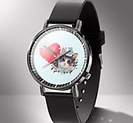 abordables -Femme Montres à quartz Analogique Quartz Motif des animaux Dessin Animé Chronographe Mignon Montre Décontractée / Cuir PU
