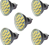 abordables -5pcs 3.5 W Spot LED 300 lm GU10 GU10 27 Perles LED SMD 5050 Intensité Réglable Blanc Chaud Blanc 220-240 V