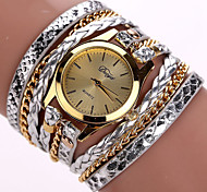 economico -Per donna Orologio braccialetto Analogico Quarzo Alla moda Intrecciato Stile Boho Leopardo Orologio casual / Un anno / Similpelle