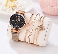 economico -Per donna Orologio braccialetto Analogico Quarzo Alla moda Glitter Elegante Creativo Orologio casual imitazione diamante / Un anno