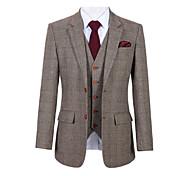 abordables -costume personnalisé en laine tweed à carreaux brun glen