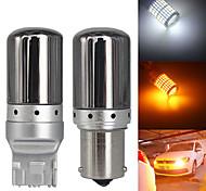 abordables -2pcs canbus s25 1156 ba15s p21w bau15s py21w t20 7440 w21w led ampoules 3014 144smd sans erreur canbus clignotants feux de freinage lampe