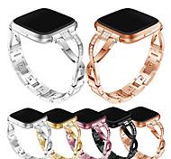 economico -Cinturino intelligente per Fitbit 1 pcs Stile dei gioielli Acciaio inossidabile Sostituzione Custodia con cinturino a strappo per Fitbit Versa Fitbit Versa Lite Fitbit Versa 2