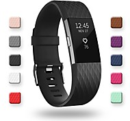 economico -Cinturino intelligente per Fitbit 1 pcs Cinturino sportivo Silicone Sostituzione Custodia con cinturino a strappo per Fitbit Charge 2 Fitbit Charge 2 HR