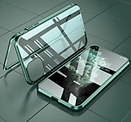economico -telefono Custodia Per Apple Per retro iPhone 12 Pro Max 11 SE 2020 X XR XS Max 8 7 6 Resistente agli urti Tinta unica Alluminio