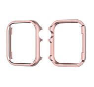 economico -Custodie Per Apple  iWatch Apple Watch Serie SE / 6/5/4/3/2/1 Metallo Proteggi Schermo Custodia per Smartwatch  Compatibilità 38 millimetri 40 mm 42 millimetri 44mm