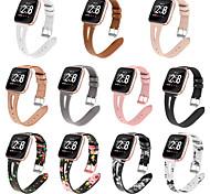 abordables -1 pièces Bracelet de Montre  pour Fitbit Boucle Classique Bande d'affaires Vrai Cuir Sangle de Poignet pour Fitbit Versa Fitbi Versa Lite Fitbit Versa 2