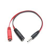 economico -jack per auricolari in oro di alta qualità da 3,5 mm 1 adattatore per connettore splitter audio maschio a 2 femmina per tablet pc cellulare