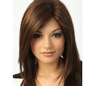 abordables -Perruque Synthétique Droit Droit crépu Coupe Asymétrique Perruque Longueur moyenne Or clair Cheveux Synthétiques 16 pouce Femme Meilleure qualité Blond