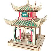 abordables -Puzzles 3D Kit de construction de modèles Maquettes de Bois Architecture Chinoise Amusement 1 pcs Classique Enfant Adulte Garçon Fille Jouet Cadeau