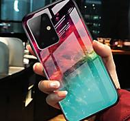 economico -telefono Custodia Per Samsung Galaxy Per retro S20 Plus S20 Ultra S20 S9 S9 Plus S10 S10 + Galaxy S10 E A10 A30 A specchio Colore graduale e sfumato TPU Vetro temperato