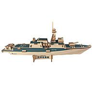 abordables -Puzzles 3D Modèle en bois Kits de Maquette Jouets Porte-avion Nouveautés Bois Garçon Fille 1 Pièces