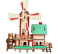 abordables -Puzzles en bois Bâtiment Célèbre Architecture Chinoise Maison Niveau professionnel Bois 1 pcs Garçon Fille Jouet Cadeau