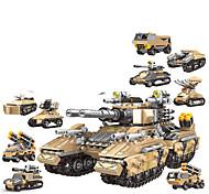 abordables -Blocs de Construction 1048 pcs Militaire compatible ABS + PC Legoing Simulation Véhicule Militaire Tous Jouet Cadeau / Enfant