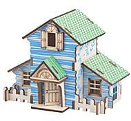 abordables -Puzzles 3D Puzzles en bois Kit de Maquette Niches Mode Maison A Faire Soi-Même En bois 1 pcs Classique Moderne contemporain Mode Enfant Adulte Garçon Fille Jouet Cadeau