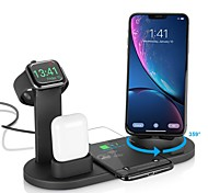 abordables -Chargeur sans fil 3-en-1 Chargeur Apple Air Pods Support de montre Apple Station de charge sans fil pour appareils multiples pour iPhone 12 Pro Max XR XS Max Samsung S21 Plus S20 Ultra Huawei Xiaomi