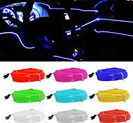 abordables -5 m / lot flexible éclairage intérieur de voiture led bande guirlande câble métallique tube ligne néon lumière avec usb lecteur contrôleur 8 couleurs 12 v