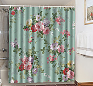 economico -tende da doccia con ganci fiori colorati poliestere novità tessuto impermeabile tenda da doccia per bagno