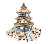 abordables -Puzzles 3D / Puzzle / Kit de Maquette Bâtiment Célèbre / Architecture Chinoise / temple du Paradis Simulation En bois Enfant / Adulte