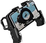 economico -controller di gioco k21 gamepad joystick grilletto metallico pulsante di scatto rapido ausiliario impugnatura ergonomica per cellulare universale
