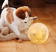 abordables -lune lampe led veilleuse 3d globe luminosité piles alimenté maison décorative pour bébé enfant nouvel an cadeau de noël support en bois 10 cm * 10 cm