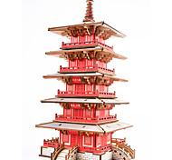 abordables -Puzzles en bois Bâtiment Célèbre Architecture Chinoise Maison Niveau professionnel En bois 1pcs Enfant Garçon Cadeau