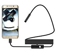 economico -Telecamera endoscopio flessibile da 2 m 5,5 mm con telecamera impermeabile impermeabile per boroscopio per PC Android 6 led regolabile