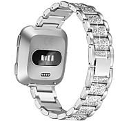 abordables -1 pièces Bracelet de Montre  pour Fitbit Conception de bijoux Acier Inoxydable Sangle de Poignet pour Fitbit Versa Fitbit Versa 2