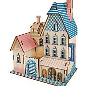 abordables -Puzzles 3D Puzzle Kit de Maquette Château Bâtiment Célèbre Maison A Faire Soi-Même En bois Classique Unisexe Jouet Cadeau