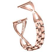 abordables -1 pièces Bracelet de Montre  pour Fitbit Conception de bijoux Acier Inoxydable Sangle de Poignet pour Fitbit Versa Fitbit Versa Lite Fitbit Versa2