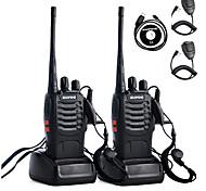 abordables -2pcs talkie-walkie baofeng bf-888s 2800mah 16ch uhf 400-470mhz baofeng 888s radio-jambon émetteur-récepteur hf amador interphones portables super qualité sonore son câble de programmation pour casque