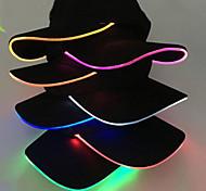 abordables -chapeau de baseball mode chaude unisexe couleur unie led chapeau de baseball lumineux fête de noël casquette à visière femmes hommes casquette de baseball chapeau