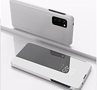 economico -telefono Custodia Per Samsung Galaxy Integrale Custodia in pelle Custodia flip S20 Plus S20 Ultra S20 S9 Plus S8 Plus S8 Bordo S7 S7 A9 Star A91 / M80S Resistente agli urti A specchio Con chiusura