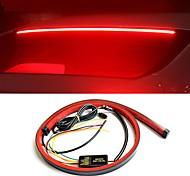 abordables -super lumineux rouge qui coule clignotant voiture supplémentaire troisième feu stop arrière montage élevé feu stop voiture clignotant bande